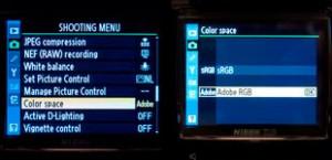 D3 Color Space Menus